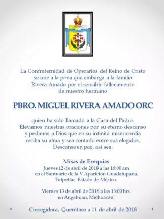P. Miguel Rivera Amado